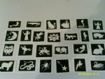 30 x fairy tales & nursery rhyme stencils (mixed) for glitter tattoos / airbrush tattoos / henna / cakes / etching / many other uses  fund raising gir